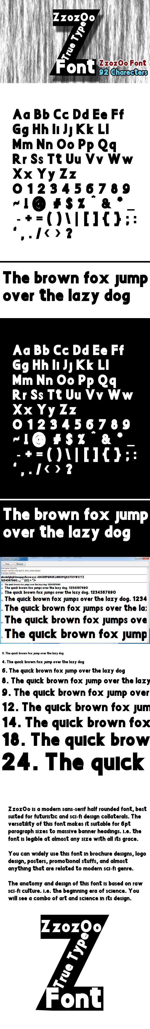 Zzozoo Font - Sans-Serif Fonts