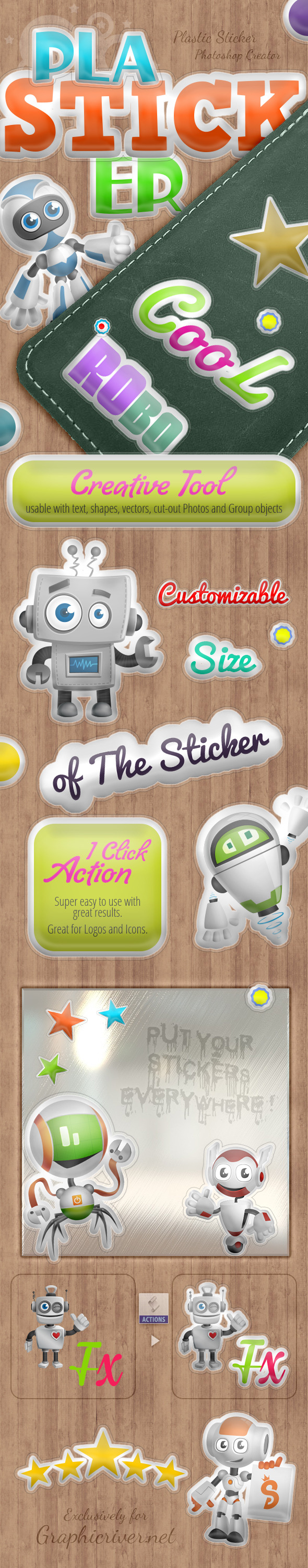 Plasticker - Photoshop Action - Actions Photoshop