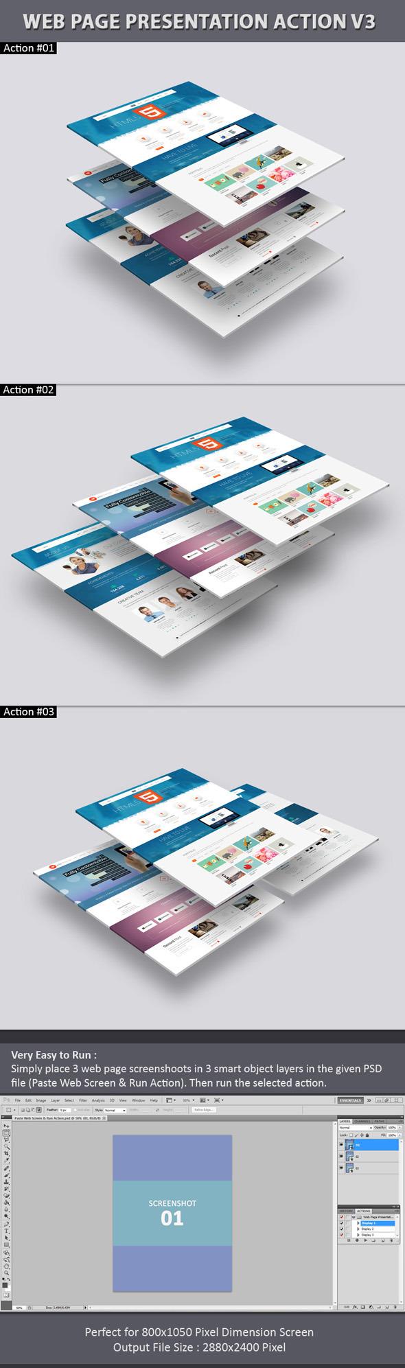 Web Page Presentation Action V3