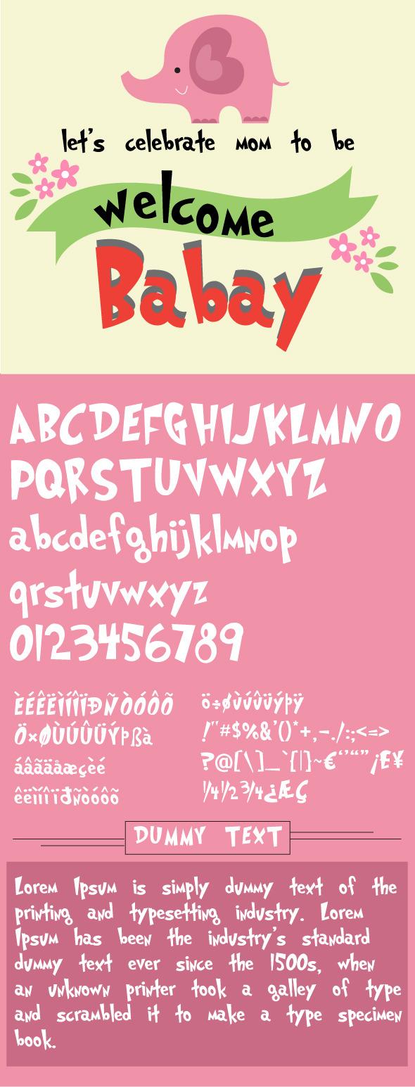 Baby Jinx Font - Comic Decorative