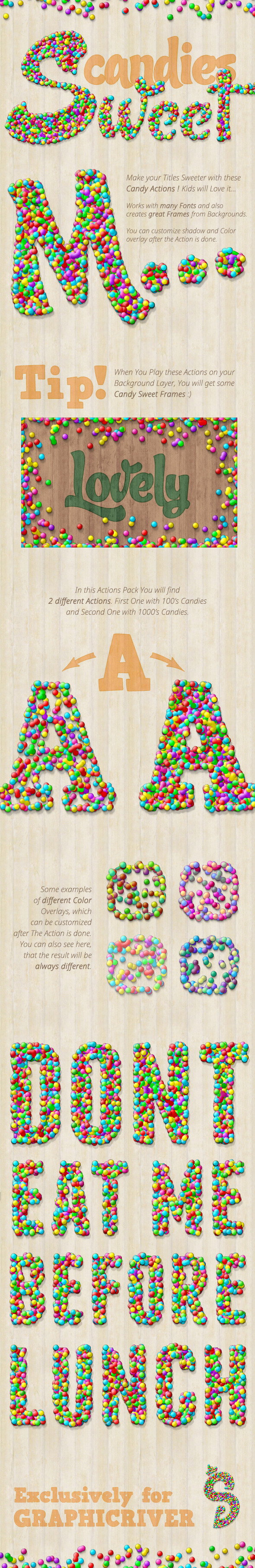 Candy Text Creator - Photoshop Actions - Text Effects Actions