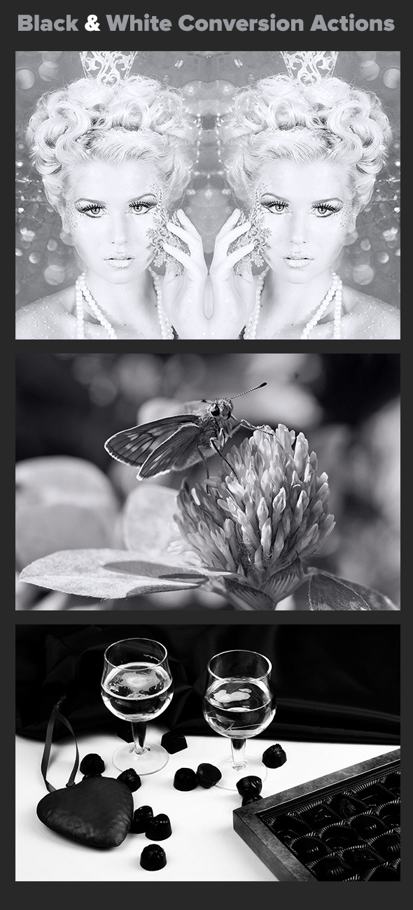 Black and White Conversion Actions - Actions Photoshop