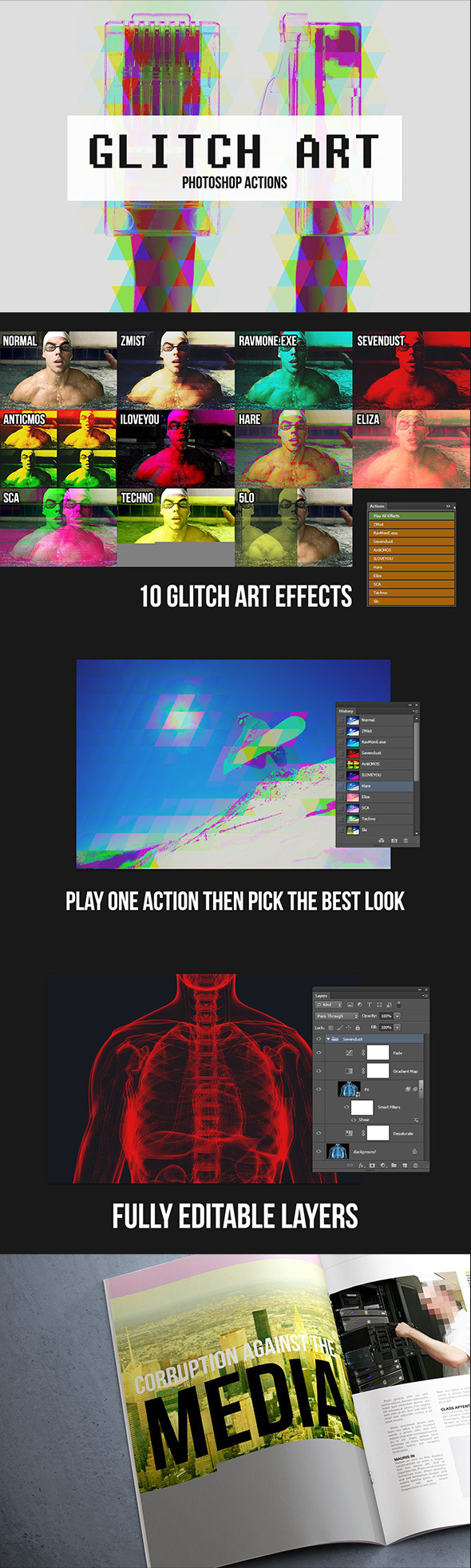 Glitch Abstract Add-ons from GraphicRiver