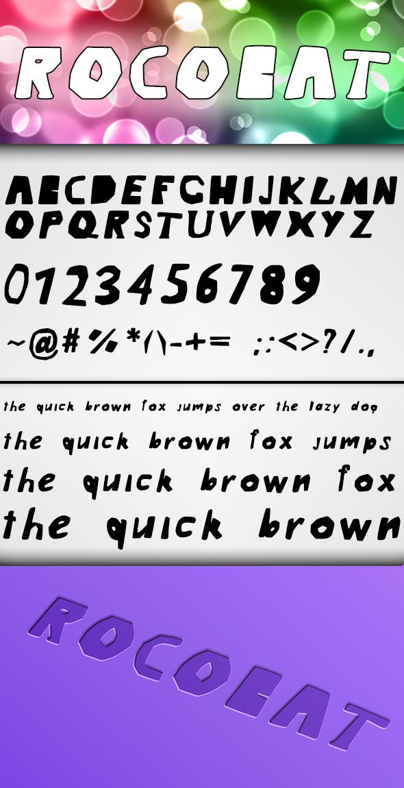 Rocobat Font - Cool Fonts