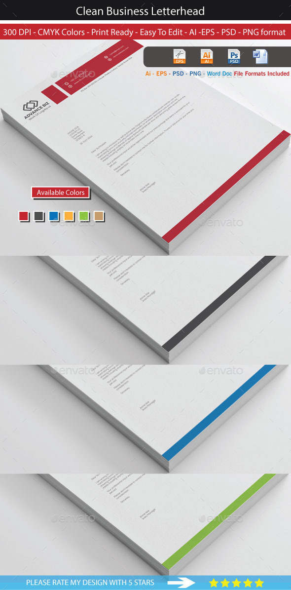Corporate advance letterhead by shujaktk graphicriver corporate advance letterhead stationery print templates spiritdancerdesigns Choice Image