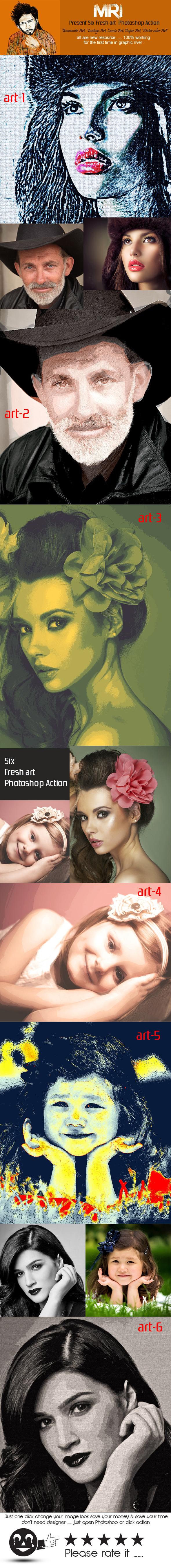 Fresh Art - Actions Photoshop