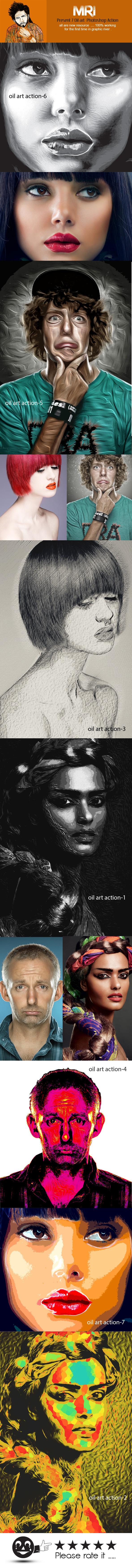Pure Oil  Art  - Actions Photoshop
