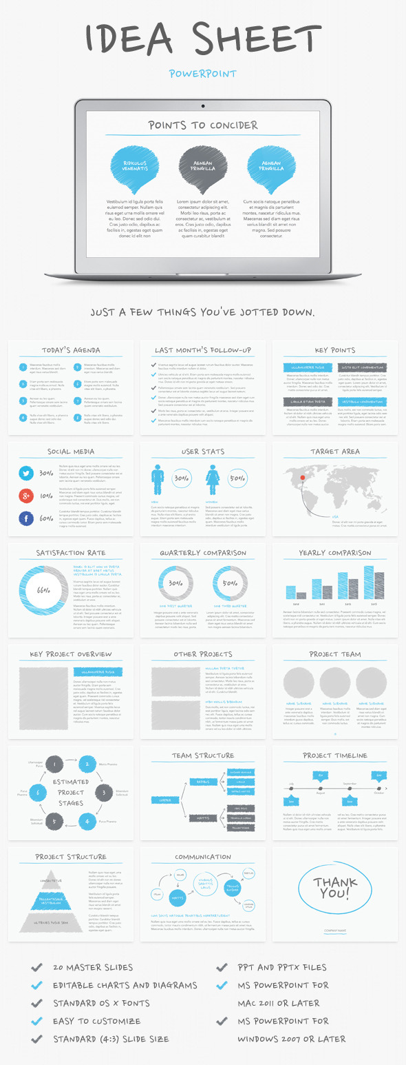 Idea Sheet PowerPoint Template by Jumsoft | GraphicRiver