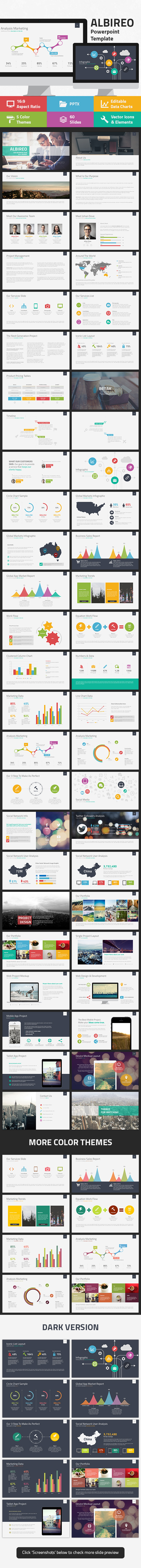 Albireo Powerpoint Template - Business PowerPoint Templates