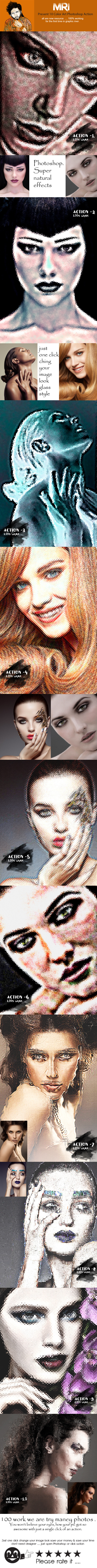 10 Glass Art Action - Actions Photoshop