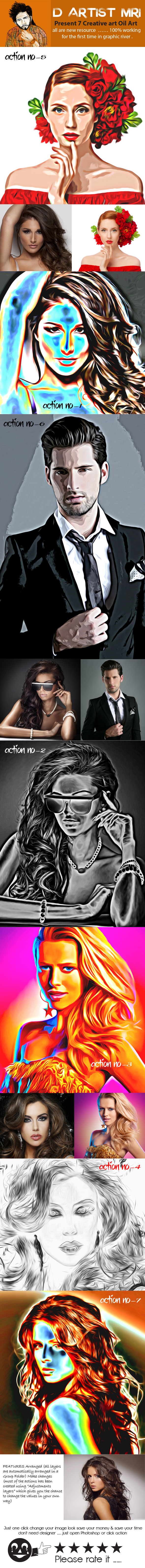 Creative Oil Art - Actions Photoshop