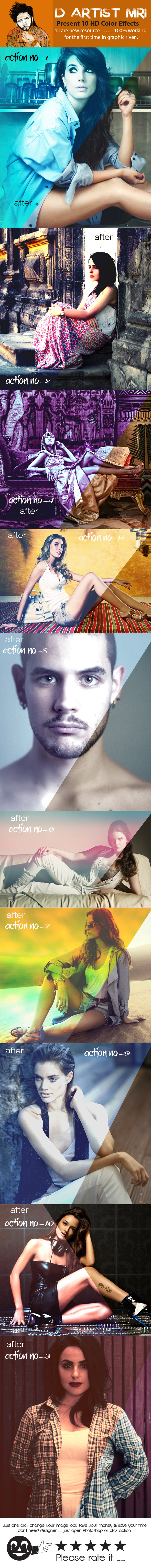 HD Color Effects - Actions Photoshop