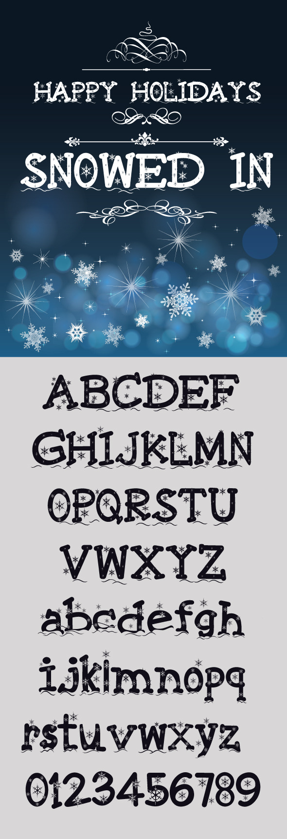 Snowed In Font - Decorative Fonts