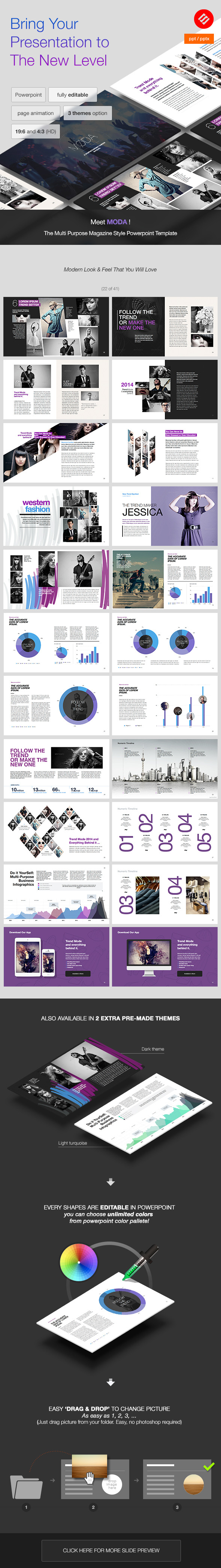 MODA - Modern Powerpoint Template by Slidehack | GraphicRiver