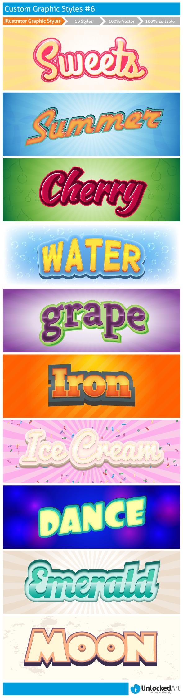 Custom Graphic Styles 6 - Styles Illustrator