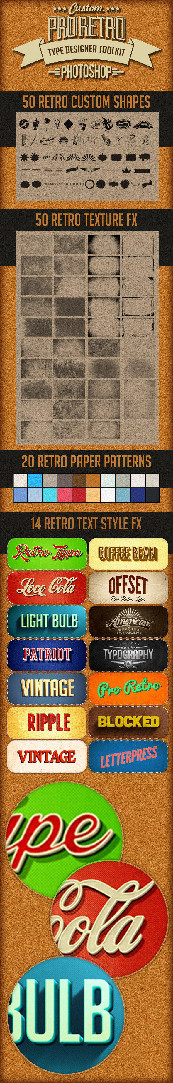 Pro Retro Text Designer Toolkit - Text Effects Styles