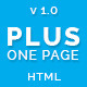 Plus One - One Page Responsive Website Template