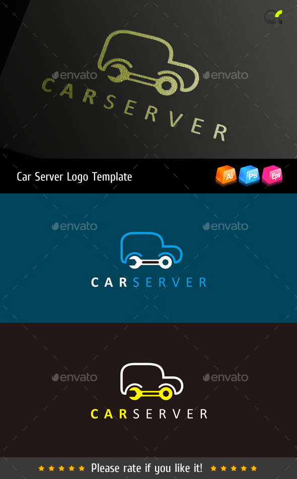 Car Server Logo Template - Objects Logo Templates
