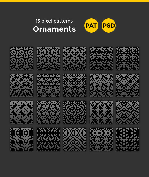 15 Ornament Patterns - Artistic Textures / Fills / Patterns