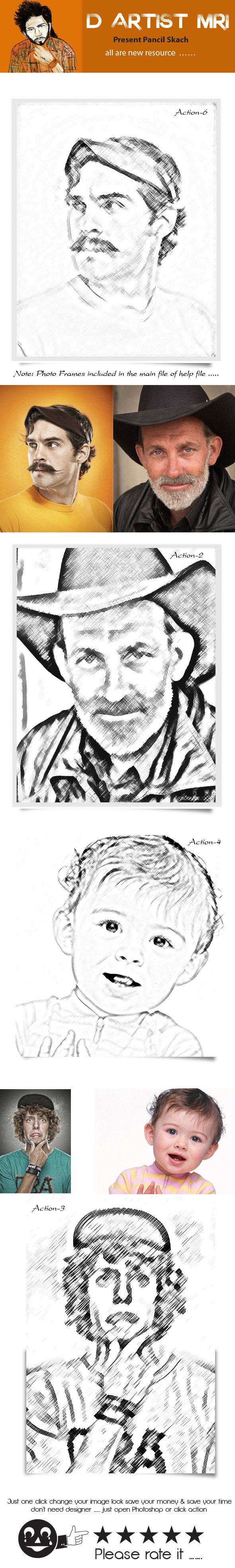 Pencil Sketch - Actions Photoshop