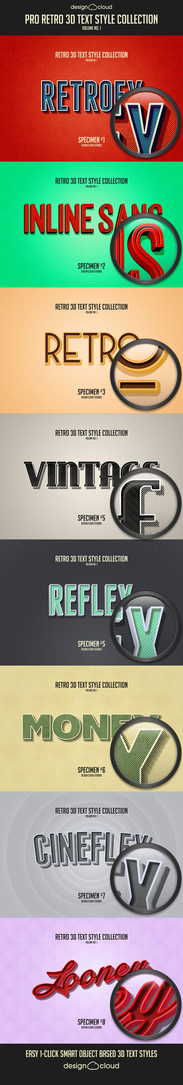 Pro Retro 3D Text Effects Vol. 1 - Text Effects Actions