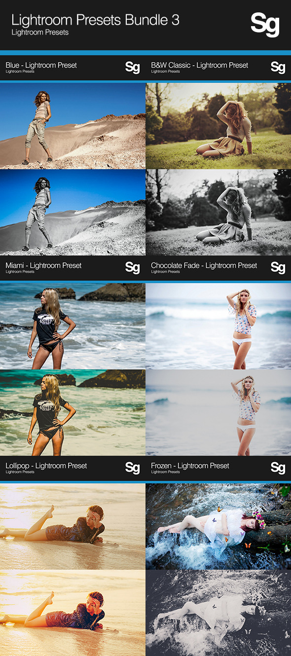 Lightroom Presets Bundle 3 - Portrait Lightroom Presets