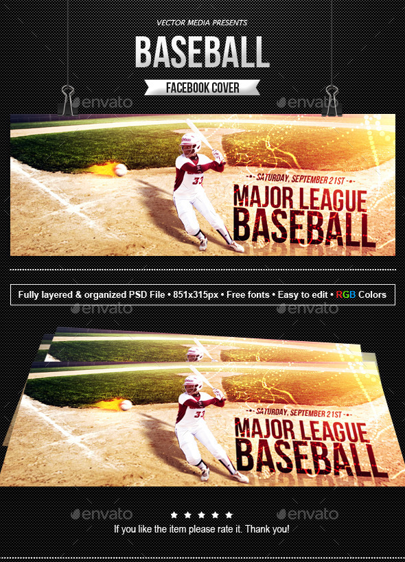 Baseball - Facebook Cover - Facebook Timeline Covers Social Media