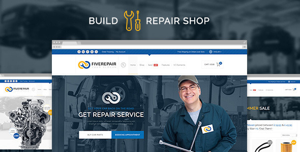 456 Repair - Mechanic Shop & Garage / Workshop / Car Service Theme - WooCommerce eCommerce