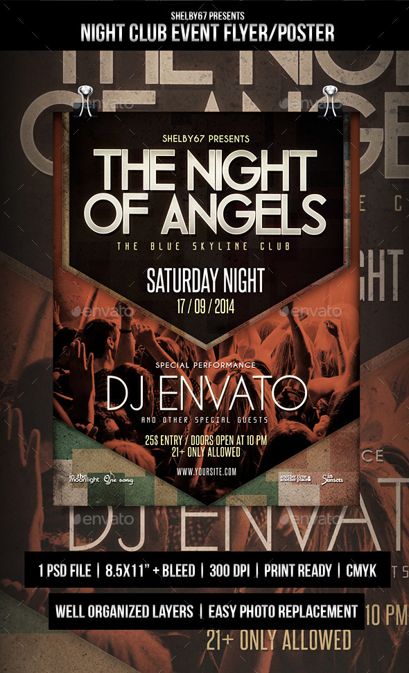 Night Club Event Flyer / Poster - Clubs & Parties Events