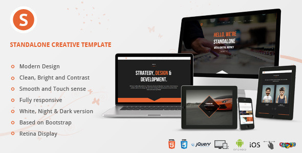 Standalone Creative Portfolio HTML Template
