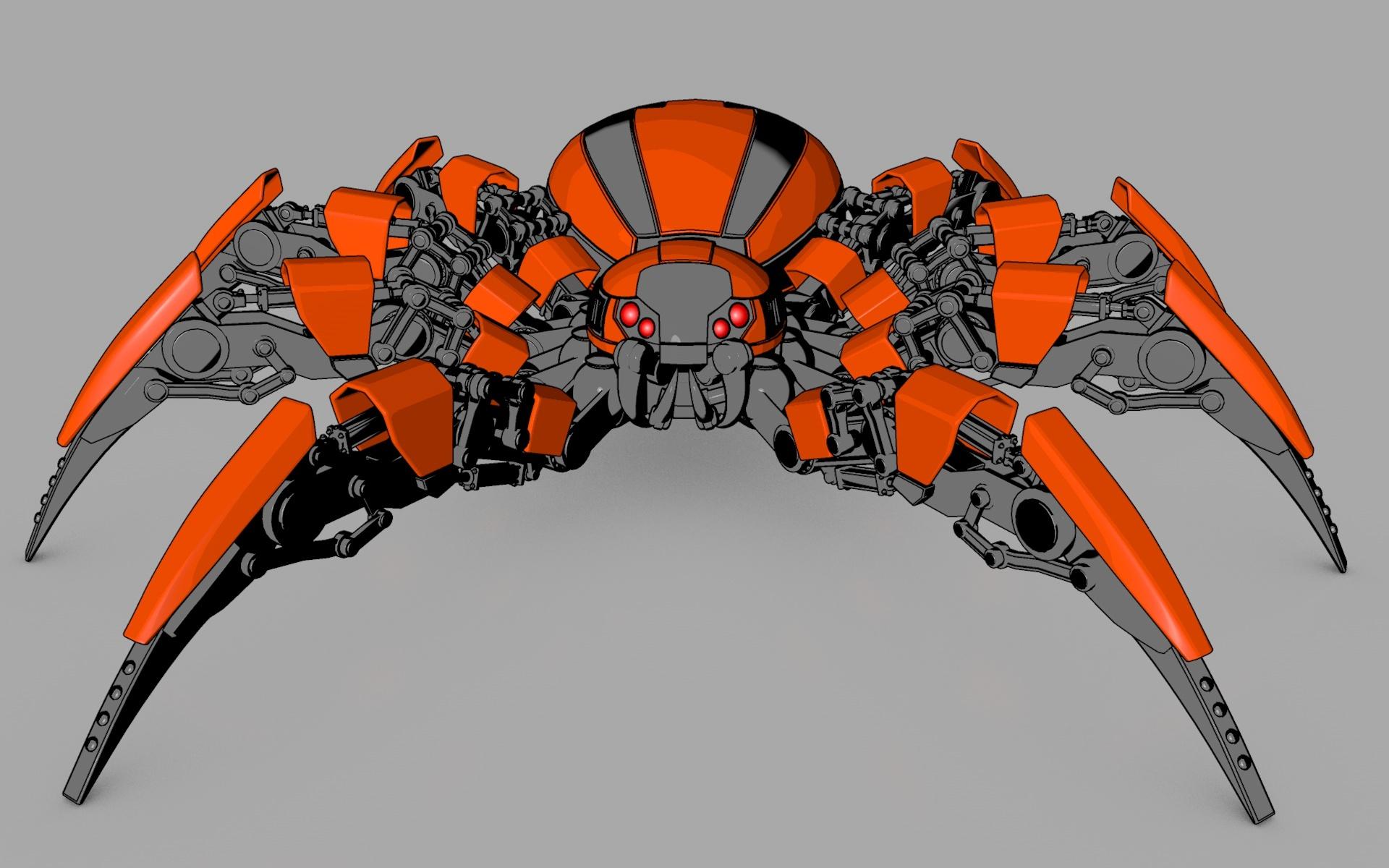Spider Robot By Vladim00719 3docean