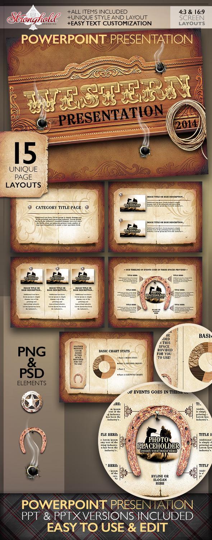 Western style powerpoint presentation template by getstronghold western style powerpoint presentation template toneelgroepblik Images