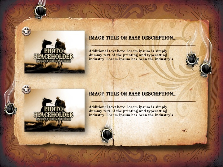 western style powerpoint presentation template by