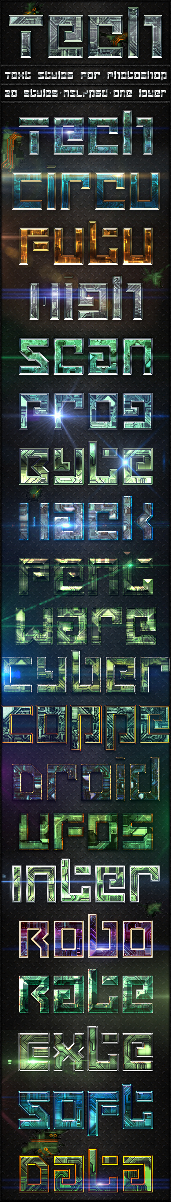 Tech - Text Styles - Text Effects Styles