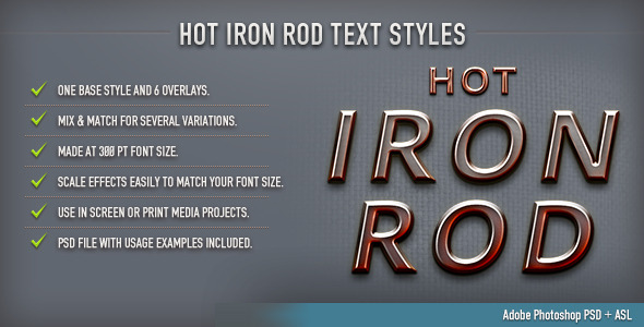 Hot Iron Rod Text Styles - Text Effects Styles