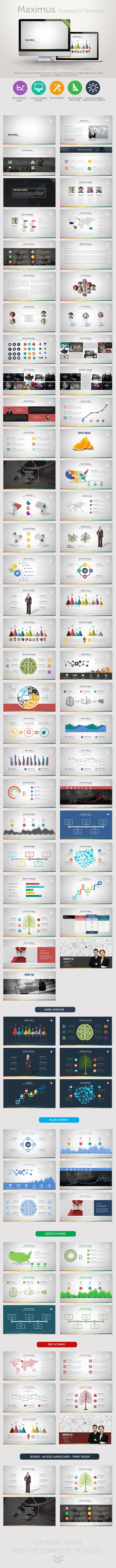 Maximus PowerPoint Presentation Template - Business PowerPoint Templates