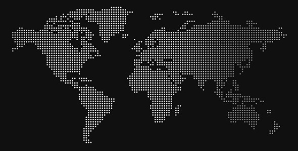 World of dots dotted world map animations by vitors videohive play preview video gumiabroncs Choice Image