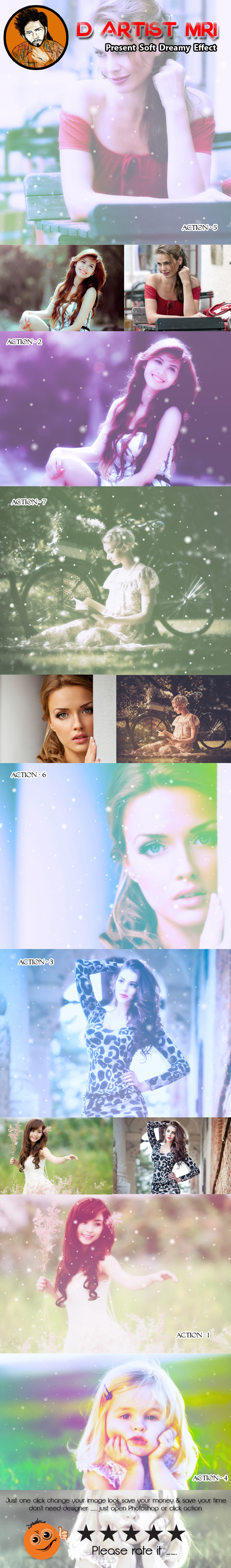 Soft Dreamy Effect - Photo Effects Actions