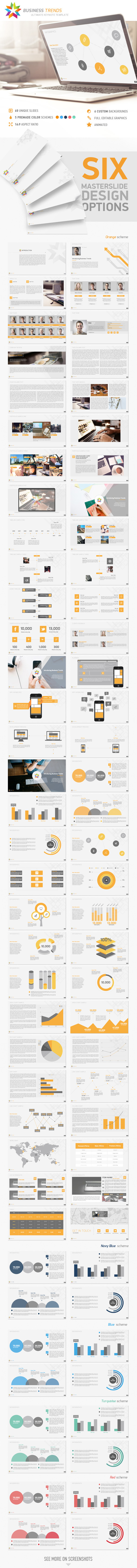 Business Trends Keynote Template - Business Keynote Templates