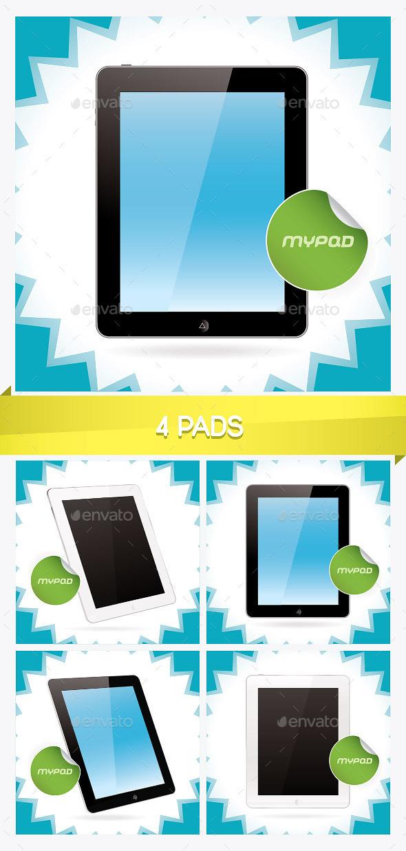 4 Pad Illustrations - Miscellaneous Conceptual