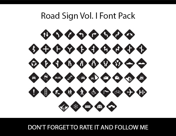 Road Sign Vol I Font Pack