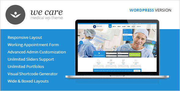 We Care – Medical & Health WordPress Theme
