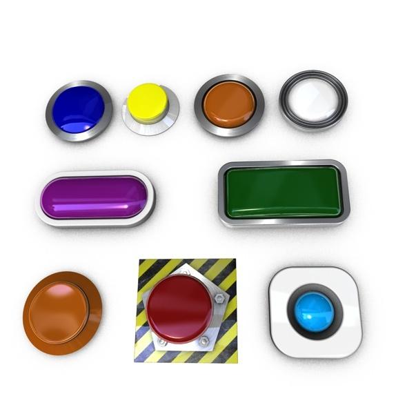 3D buttons. - 3DOcean Item for Sale