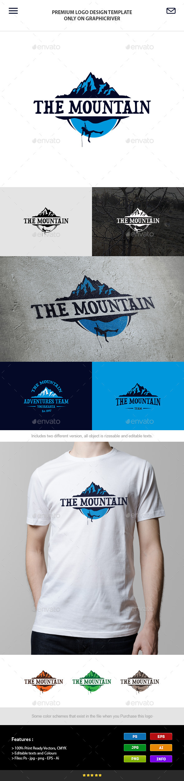Climbing the Mountain - Objects Logo Templates