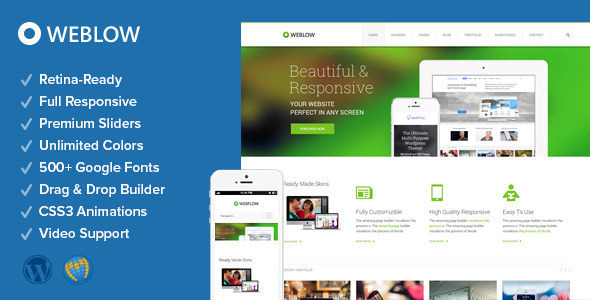 Weblow – Responsive Multi-Purpose Theme