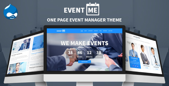EventMe – One Page Conference & Event Drupal Theme