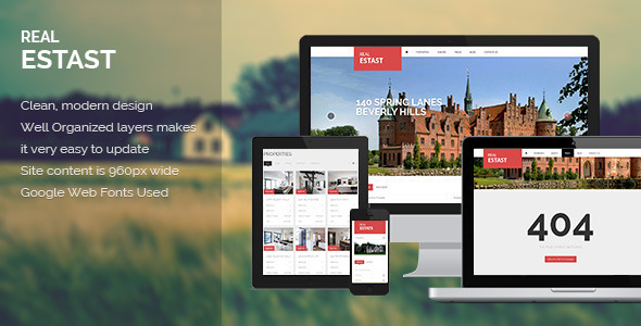 RealEstast - Real Estate PSD Template