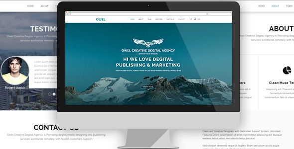 Owel – Creative Multipurpose Muse Template