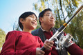 Grandfather and grandson fishing portrait - PhotoDune Item for Sale