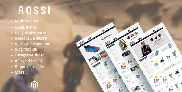 ROSSI – Responsive Magento Theme
